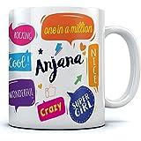 Anjana Name Printed Ceramic Coffee Mug . 350 Ml Best Gift For Birthaday.