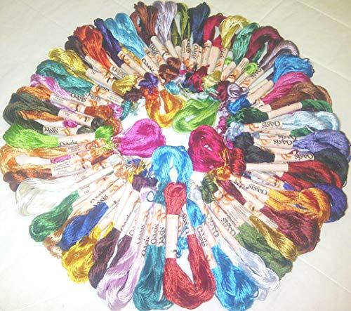 50Stickerei groß Seide gestrandet Garnknäuel Fäden-50verschiedenen. Farbe Beste Qualität (Hand-stickerei Zahnseide)