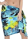 Frauen teal Hälfte Sarong wickeln Schal Strand Hawaii Urlaub Bikini-Badeanzug Rock