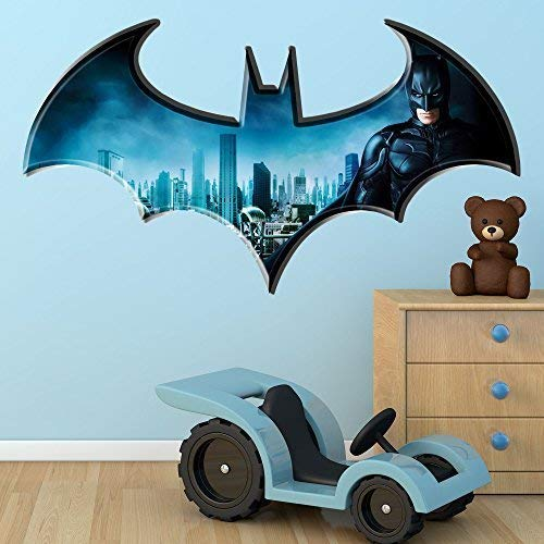 Wall Smart Designs Wandaufkleber/Wandbild, Batman Dark Knight Logo, DC Superheld Comic, fürs Kinderzimmer