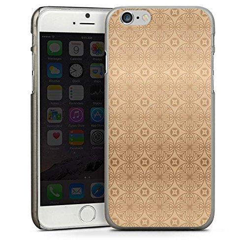 Apple iPhone 5s Housse Étui Protection Coque Fleur Fleur Fleur CasDur anthracite clair