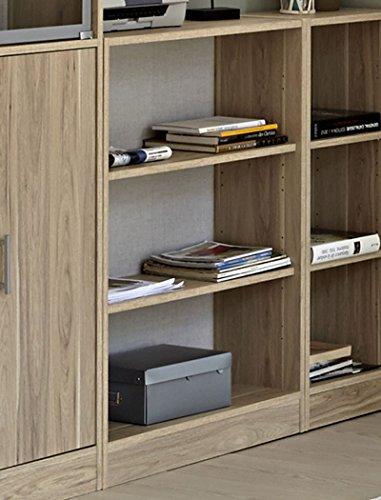 Wohnzimmer Sophal 27 Eiche 5x Regal Schrank Regalwand Vitrine Wohnwand Vitrinenschrank Arbeitszimmer Jugendzimmer - 5