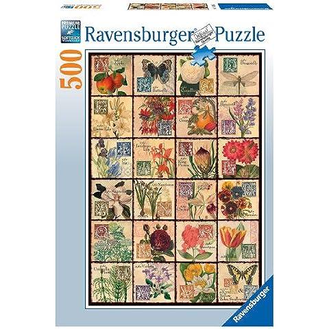 Ravensburger 14126 - Puzzle de 500 piezas (49 x 36 cm una vez completo), diseño de flores vintage