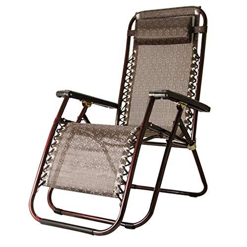XD Lounge chair Zero Gravity Chaise Chaise Longue SurdimensionnéE Patio Chaise Longue Teslin MatéRiel Chaise De Plage Pliante pour Patio Jardin ExtéRieur Plage Piscine Soutient 440lbs