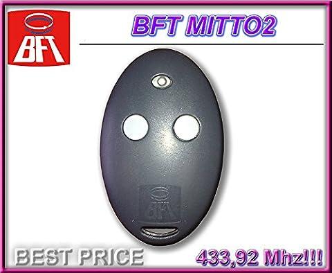Telecommande Bft 02 - Télécommande BFT MITTO 2, 2canaux, 433,92MHz Rolling