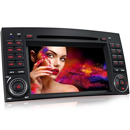 "XM-03Z Autoradio approprié pour Mercedes W169 W245 I navigation GPS auto intégré avec cartographie Europe I Bluetooth I Écran tactile de 7"" 18cm I Lecteur DVD/CD I Port USB I Fente cartes SD I 2 DIN"