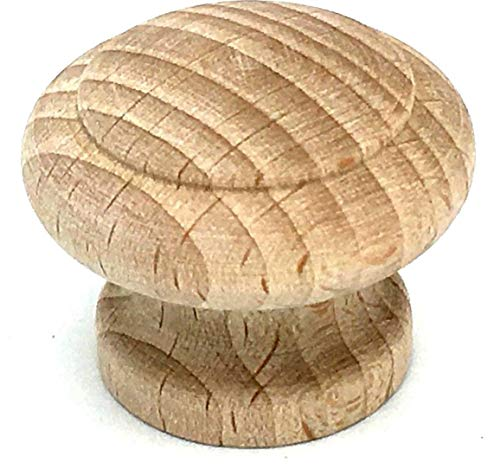 Buche Brust Schubladen (2 x Deluxe solid beech 35mm wooden knobs with natural wood grain by Swish. by Swish)