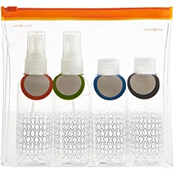 Samsonite Travel Accessor. V C-O Toiletry Bottle Set Beauty Case, Trasparente (Trasparente)
