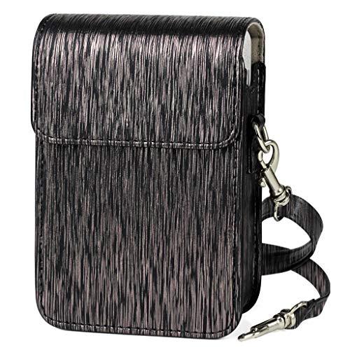PU Leather Streamer Drawing Tasche Kameratasche Aufbewahrungsbox Kompatibel mit Fujifilm Instax Mini Liplay Camera, Nourich Handtasche Schultertasche (Schwarz) -