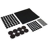 FIXMAN 969465 - Almohadillas de fieltro autoadhesivas, 125 pzas (125 pzas, negro)