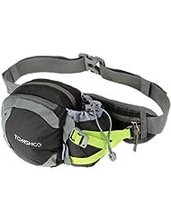 TOMSHOO Riñoneras Impermeable con Portabotella Multiuso para Corriendo Ciclismo Cámping Alpinismo Viajar Excursionismo Deportes Al Aire Libre