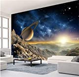 Syssyj Benutzerdefinierte 3D Fototapete Cosmic Space Cabin Raumschiff Wandmalerei 3D Restaurant Hotel Internet Gaming Room Wandbild Tapeten-350X250CM