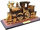 HorBous Klassische Vintage Retro Uhrwerk Eisenbahn Zug Spieldose - Schwarz / Kaffee (Kaffee)