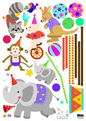 Imagen 1 de Animales de circo - infantil Art Deco casa etiqueta de la pared pegatinas de pared Tatuajes de pared Wall stickers Wall stickers