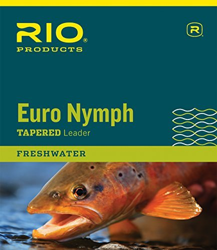RIO European Nymph Trout Leader With Tippet Ring Fly Fishing High-Viz Two-Tone by Rio Brands (Fishing Leader-ringe Fly)