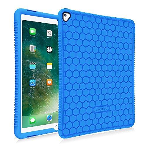 Fintie iPad Pro 12,9Fall-[Honig Kamm Serie] Light Gewicht Rutschfeste kinderfreundlich stoßfest Silikon Schutzhülle für Apple iPad Pro 12,92Nd Gen 2017/1. Gen. 2015 Blau (Kinderfreundlich Ipad Fall)