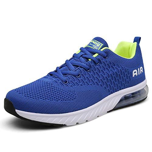 Mishansha Laufschuhe Blau Mit Dämpfung Herren Turnschuhe Leicht Straßenlaufschuhe Atmungsaktiv Running Outdoor für männer gr.43