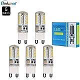 MUMENG® 5 Packs G9 Dimmbar LED Leuchtmittel, Warmweiß 3200K, 3.5W, äquivalent zu 30W Halogen-Lampe, Beam 320-350LM, 360-Grad-Winkel, AC 200-240V