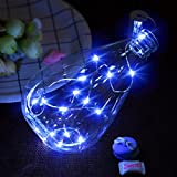 Led Bottle String Light Kits, Indexp Brilliant Xmas Wedding Home Decoration Gift Fairy Lights Coil (15 Lamps/75cm Length, Blue)
