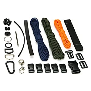 517CZgiOTsL. SS300  - Polymath Products Adapt and Survive - Paracord & Webbing Kit - 38-Piece Set including 50' Paraco