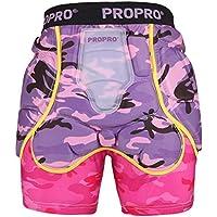HBRT Pantalones Cortos de protección Acolchados para Mujeres, Guarda de Peso Ligero Transpirable para Equipo de protección de Cadera Trasero para béisbol de Hockey,M