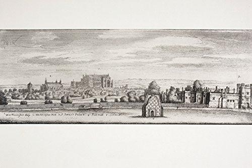 Ken Welsh / Design Pics - London England. St James's Palace Westminster Hall And Pall Mall In 1660. From A Contemporary Drawing. From Memoirs Of The Martyr King By Allan Fea Published 1905. Photo Print (45,72 x 30,48 cm)