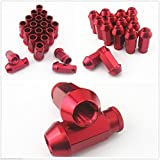 20pcs rueda Racing Lug Tuercas M12 x1.5 mm Integra rojo