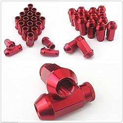 20 Stück Rad Racing Lug Muttern M12 x1.5 mm Integra Rot