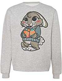 Cute Easter Bunny Wth Two Eggs Sudadera Unisex