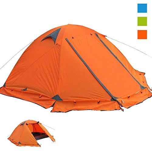 outdoor tent Zelt Camping Zelt Doppel Doppel-Aluminium-Pole Anti-Sturm Tourismus Camping,Orange