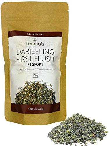 Darjeeling First Flush Flugtee 2019 Schwarzer Tee 100g, Darjeeling Tee FTGFOP1 Premium Qualität Teeplantage Monteviot, Ausdrucksvoll & Hocharomatisch, TeaClub