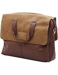 """Monte Lovis Briefbag - Modell """"Carleton"""" - Unisex-Erwachsene Schultertasche - Echtes Leder - Limited Edition nur 10 Weltweit - in Braun"""