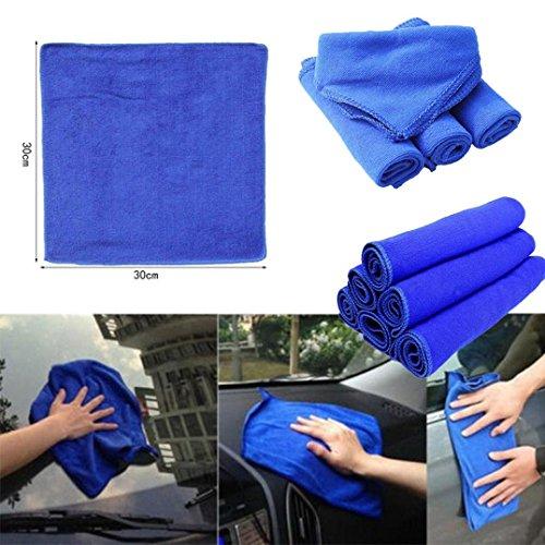 MRULIC 30 * 30cm weiche Microfaser Reinigung Handtuch Auto Auto waschen chemisch reinigen polnischen Tuch (Blau) (Polnisch-geschenk-korb)