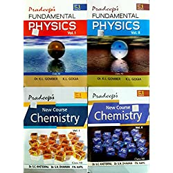 PRADEEP FUNDAMENTAL PHYSICS VOL 1 OR 2 WITH NEW COURS CHEMISTRY VOL 1 OR 2 SET OF 4 BOOK CLASS 12 EXAM 2018-19