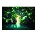 B Blesiya Wallpaper 3D Autocollant Fond Affiche Stickers Murale pour Reptiles Tortues Poster Décor Chambre - 61x41cm