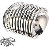 NALCY Vintage deurladegrepen, Cupped handgrepen, ijzeren trekknoppen, kast, retro meubelknoppen, halve cirkel, antieke shell
