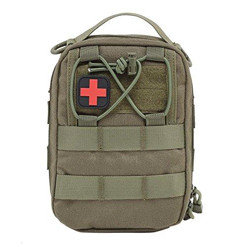 Erste-hilfe-kit 1 Person (nicololfle Erste-Hilfe-Kit ist für Notfallhelfer und andere Personen in Notfällen sowie eine Taktische Tasche mit MOLLE-Zubehör vollständig bestückt)
