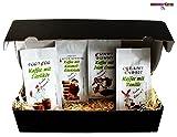 Ostergeschenk aromatisierter Kaffee ' Geschenk Set Oster Kaffee Filterkaffee 4 x 200 g im Geschenkkarton (Ganze Bohnen)