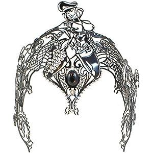 La Fucina dei Miracoli, Venezianische Metallmaske Mit Originalen Swarovski®-Kristallen,