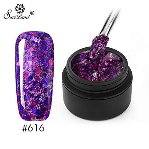 Nagellack, super blinkendes Nagel-Effekt-Nagelpulver Nagellackkunst-Nagellack Nail Art Polish Gel Nagellack Pulver, Watopi