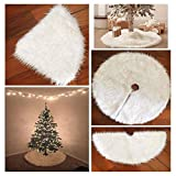 ASnmiier Deco Round Felt Tree Topping White Christmas Tree Grembiuli Bianchi Snow Christmas Tema Ornament