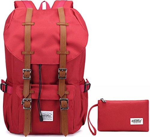 Imagen de  portátil unisex paquete de ocio de moda para excursiones al aire libre viajes camping por kaukko nylon rojo 2pcs  alternativa