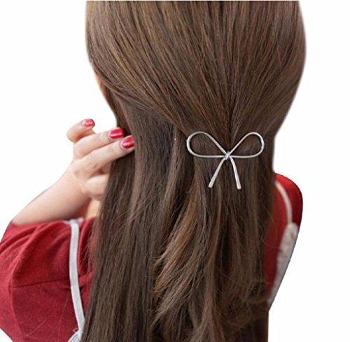 Covermason Damen Haarklammern Haarnadel Haarschmuck Geometrisch durchbrochene Schmetterling (Silber)