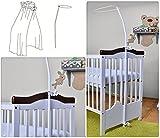 Support universel pour auvent Drape pour lit d'enfant–Lit de bébé Moustiquaire Cintre pratique–s'adaptent à tous les Standart Berceaux