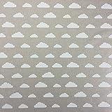 Leinen Wolken Baumwolle Rich Leinen Look Stoff für Vorhänge Jalousien Craft Quilting Patchwork und Polstermöbeln ca. 140cm breit, Meterware,