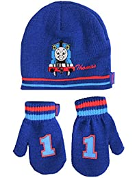 Hit Entertainment Official Licensed Thomas The Tank Engine Winter Beanie Hat And Mittens Set Age 2-4 Years