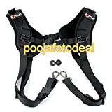 Focus Double Quick Rapid Shoulder Sling Belt Neck Strap Camera SLR DSLR Black