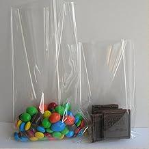 Syndecho 100 Piezas (6 x 8 Pulgadas) Bolsas de Celofán Transparentes Plastico OPP para Caramelo Piruletas Bombones Regalos Navidad Boda