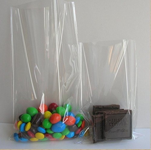 Klar Cello Taschen Zellophan Süßigkeitentüten, Partei Geschenk Schokolade Lutscher Flachbeutel Cellophan,6x8 Zoll (Diy Geschenk-taschen)