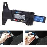 Colomba Misuratori di profondità Digitale per Auto Pneumatico 0-25.4mm con LCD Display Inch/mm Regolabile Profondimetro Metrico Misuratore
